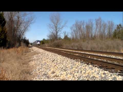 Amtrak 59 City of New Orleans! North Jackson, MS. 1-3-14