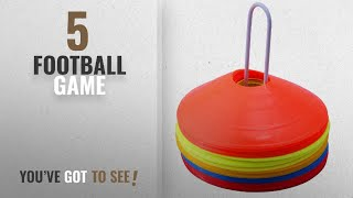Top 10 Football Game [2018]: NOVICZ 50 Pcs Soccer football Marker Cones Disc Sports Games training