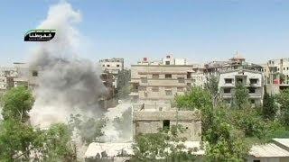 Сирия. Армия наносит удары по пригородам Дамаска