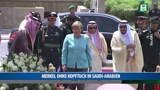 Merkel ohne Kopftuch in Saudi-Arabien
