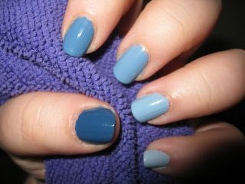 Ombre Nails Different Shades of One Color - YouTube