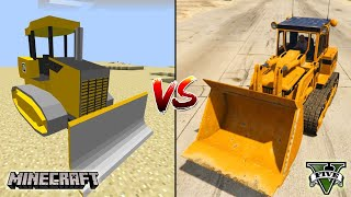 MINECRAFT BULLDOZER VS GTA 5 BULLDOZER - WHICH IS BEST?
