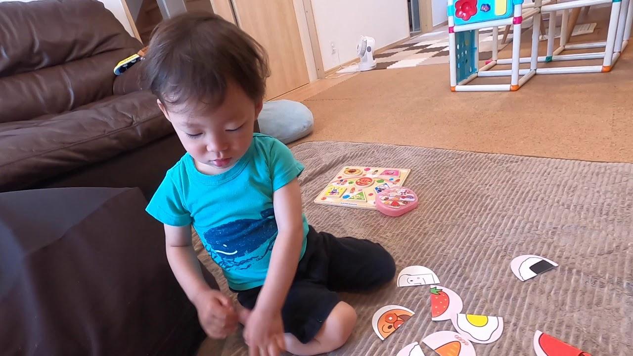 【2歳2ヶ月】アンパンマンの絵合わせ、興味なさそうです・・・。