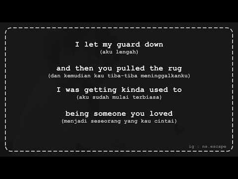 Someone You Loved - Lewis Capaldi [Lirik Lagu + Terjemahan]