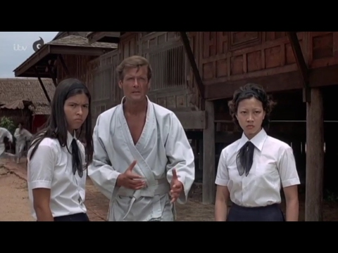 Roger Moore, karate  from Bond film The Man with the Golden Gun