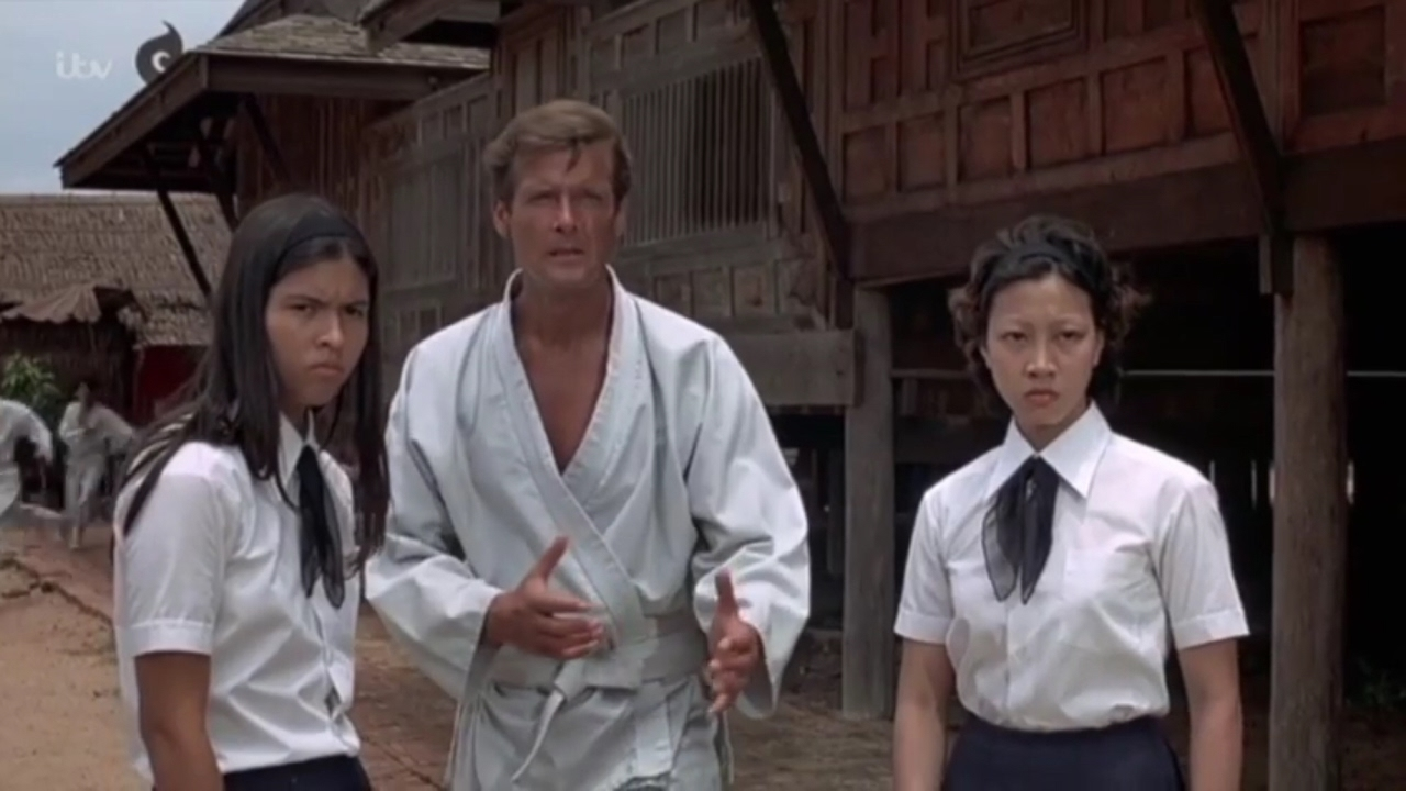 Roger Moore Karate Clip From Bond Film The Man With The Golden Gun