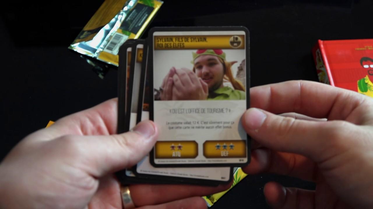 jeu de carte joueur du grenier OUVERTURE BOOSTERS Cartes Joueur du Grenier =D   YouTube