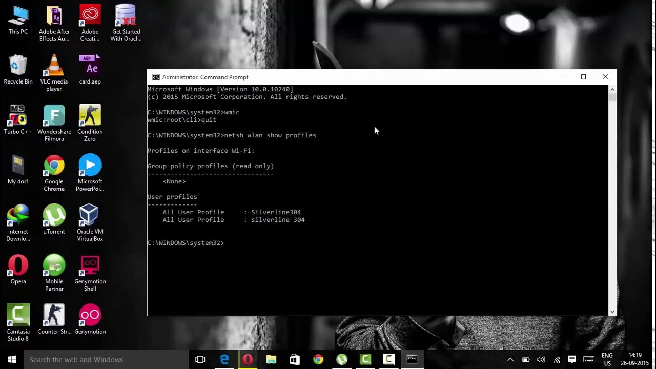 How to hack WiFi Password by use of cmd prompt in few second in hindi 100%  working