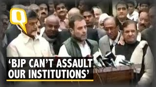 Have To Stop BJP's Assault on CBI, RBI and EC: Rahul Gandhi on Urjit Patel's Resignation | The Quint