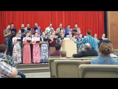 Fort Pitt gospel Choir singing at Mennonite Church in Alberta.