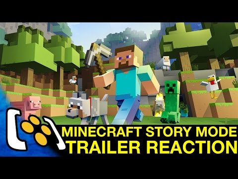 Minecraft Story Mode - Minecon 2015 Trailer Reaction