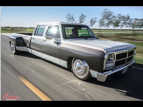 ONE OF A KIND DODGE FIRST GEN CREW CAB CUMMINS DUALLY ON BAGS!