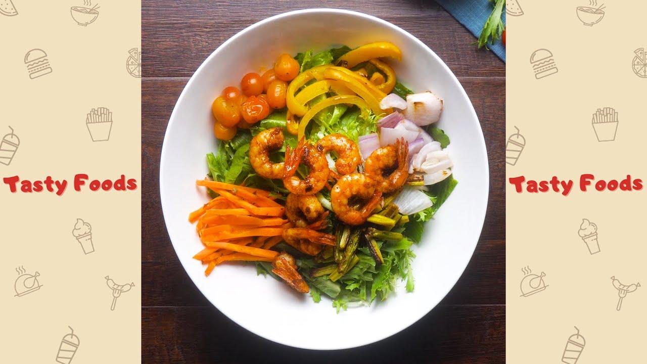 #78 Best Grilled Vegetables and Shrimp Recipe | Home cook food #shorts