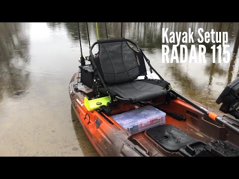 MY NEW KAYAK SETUP (Wilderness Systems RADAR 115)