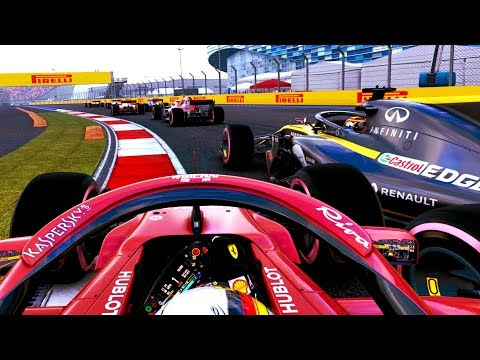 DISASTER FOR VETTEL! RACE LONG BATTLE FOR US! - F1 2018 Career Mode Part 100