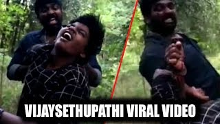 VIRAL VIDEO - Vijay Sethupathi And His Son Fighting in the sets Of Sindhubaad    Movie Shutter