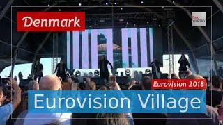Rasmussen (Denmark) - Higher Ground (LIVE @ Eurovision Village) Eurovision 2018