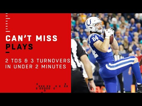 2 TDs & 3 Turnovers in Under 2 Minutes in Dolphins vs. Colts Game
