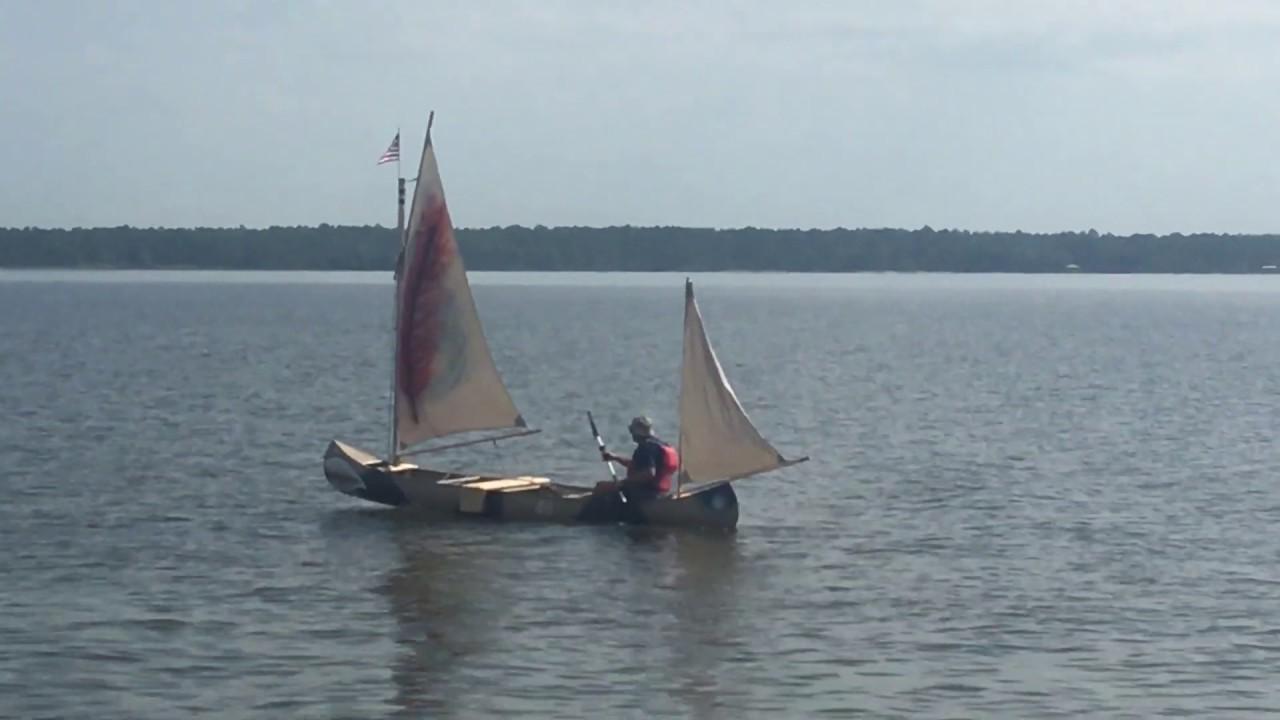 Grumman 17 SCOUT 05 Jul 19 Rig For Sail Canoe Yawl