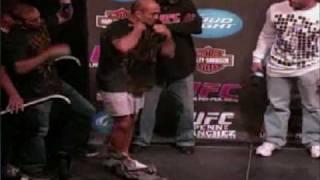 BJ Penn Diego Sanchez weigh in UFC 107