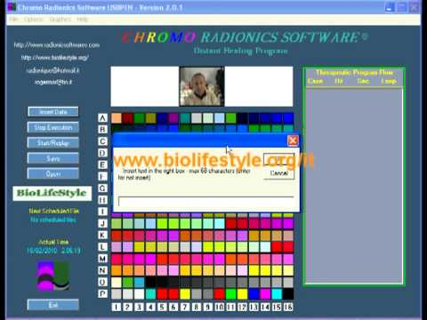 Chromo Radionics Software Tutorial ITA (part.4) by www.biolifestyle.org/it