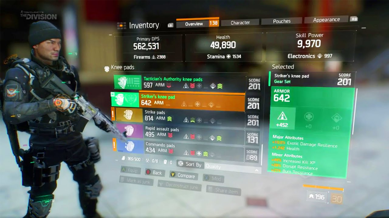 The Division Gear Set High End Gear Incursion Gameplay Gun Crafting The Division Dlc Youtube