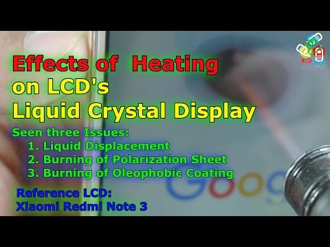 [Hindi-Audio]-How LCD Screen Acts on Heat: Liquid displacement, Burn or dead...