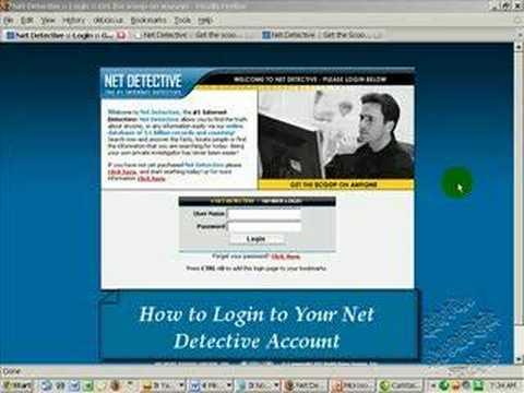 net detective log in