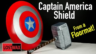 Best Way to Dome Foam! How to Make a Captain America Shield Costume / DIY Wonder Woman shield