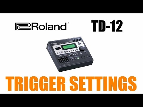 How to set up Roland  TD 12 Module Trigger settings guide lesson