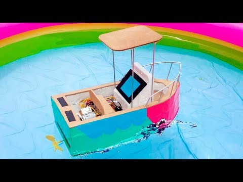 How To Make a Boat || How to make an Electric Motor Boat using Thermocol DC motor and Cardboard thumbnail