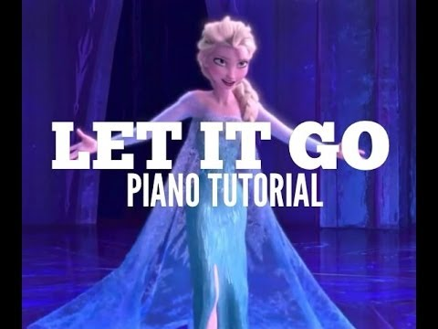 disneys frozen let it go intro piano tutorial hd youtube
