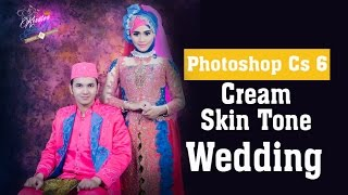 tutorial cara membuat photo cream skin tone wedding