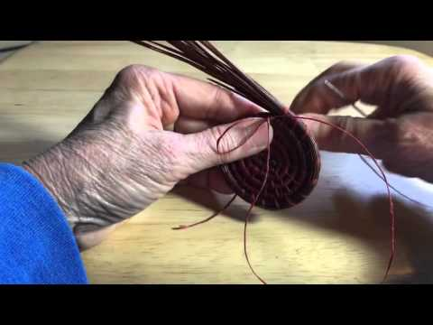 Pine Needle Coiling - adding threads