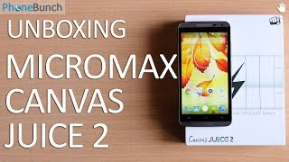 Micromax Canvas Juice 2 Unboxing and Hands-on Overview