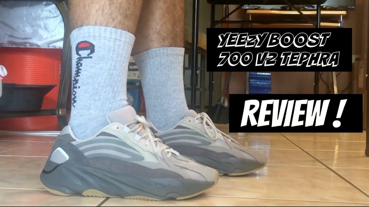 YEEZY BOOST 700 V2 TEPHRA REVIEW \u0026 ON