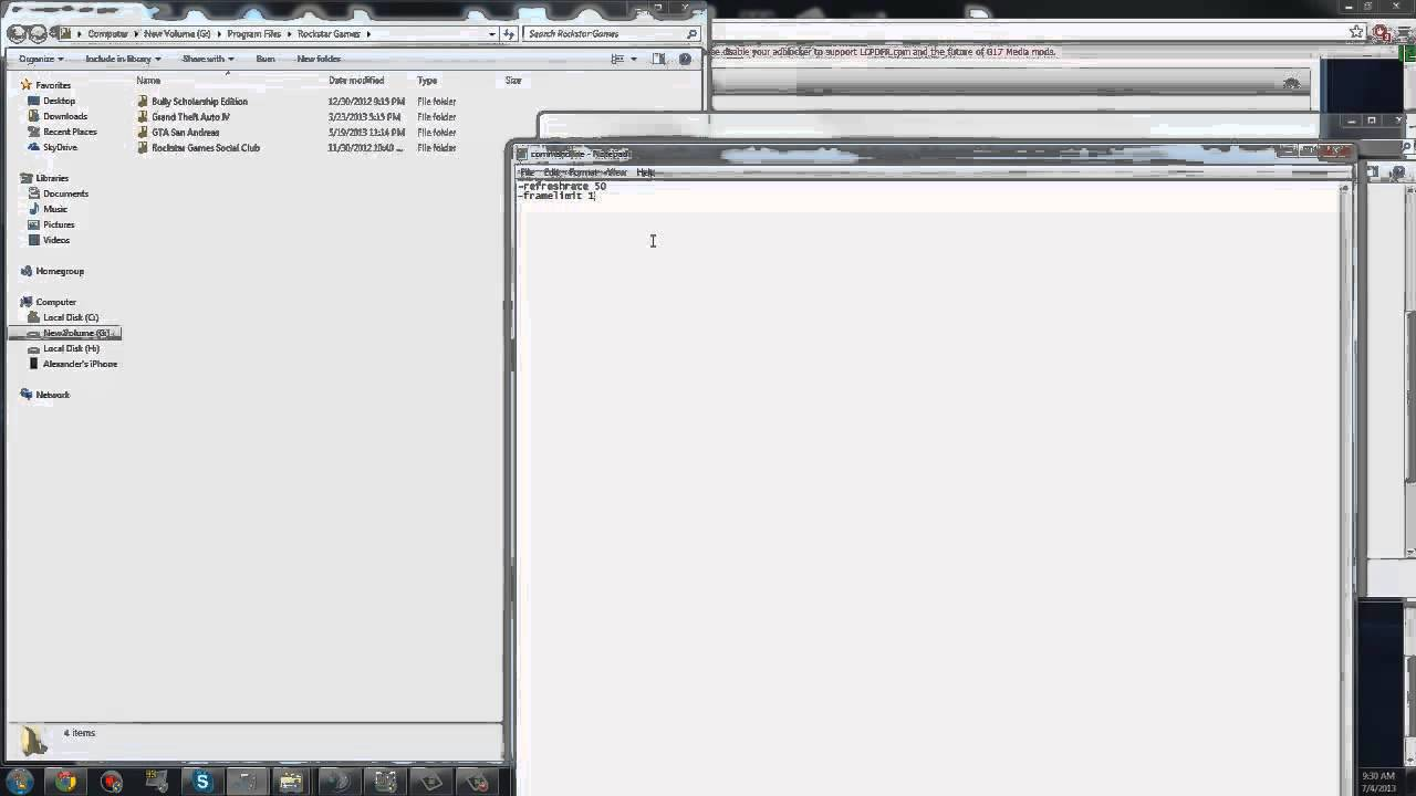 download commandline.txt for gta 4
