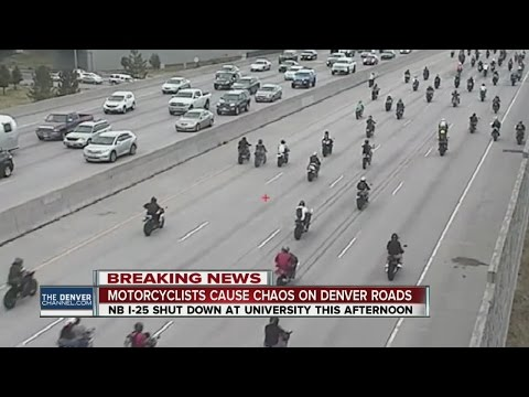 Motorcyclist cause chaos on Denver roads
