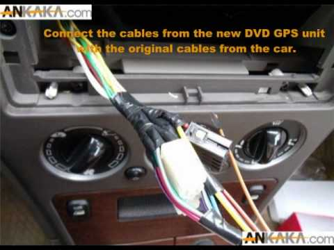 For Car Alarm Wiring Diagram How To Install Car Dvd Gps Tv Diy Youtube