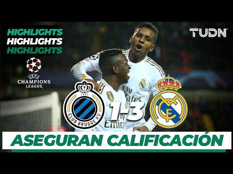 Highlights | Club Brujas 1 – 3 Real Madrid | Champions League – J 6 – Grupo A | Tudn