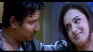 Jeeva romancing with his girl - Simham Puli Movie Scenes - Santhanam, Divya Spandana, Honey Rose