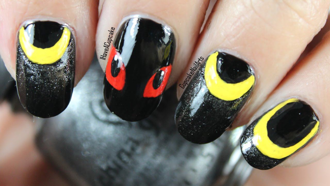 - Pokemon Nail Art - Umbreon Nails - YouTube
