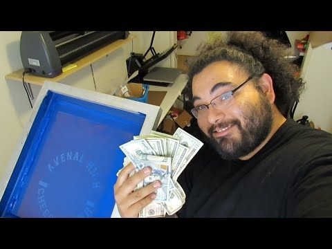How I made screen printing my full time income. Part 1 Monday