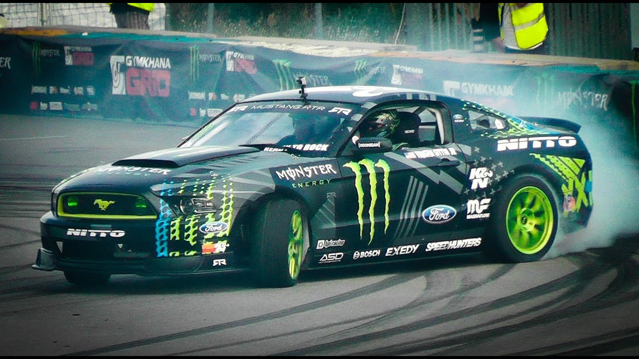 Epic Drift Show W Vaughn Gittin Jr And His Monster Ford Mustang