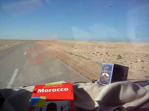 Driving across the Sahara Desert