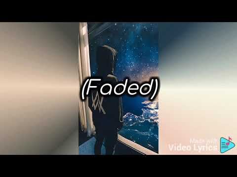 Faded 👨 -(lyrics music) - YouTube