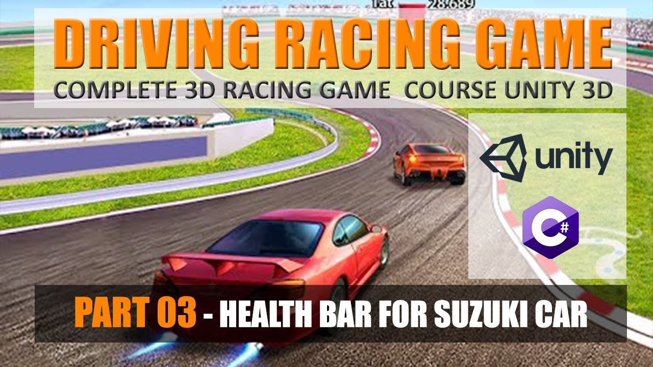 How To Create car health bar Unity | Building Advance Driving Racing Game In Unity & C# #3