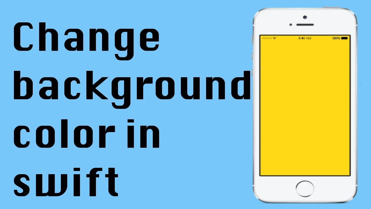 Background image xcode 6 - How To Change The Background Color Of Your App Swift Xcode