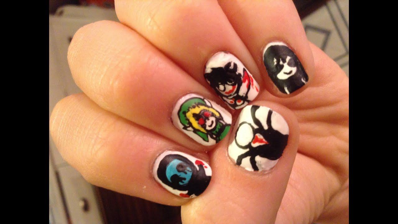 creepypasta nail art