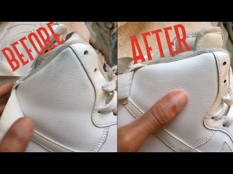 How to remove jean stains from white NIKE Air Force 1